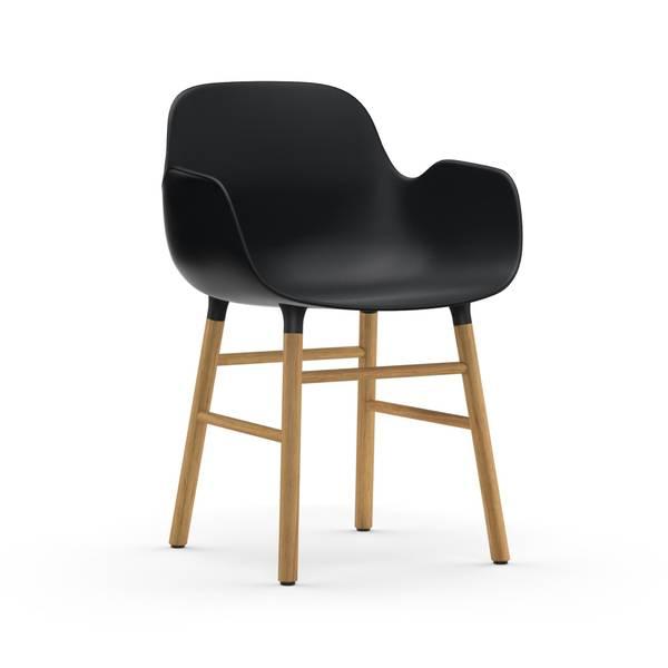 Bilde av Form Armchair Oak - Black