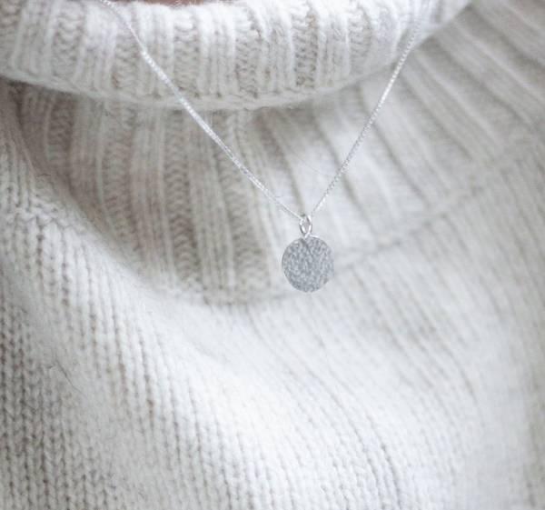 Bilde av Dugg, halssmykke sølv 45 cm